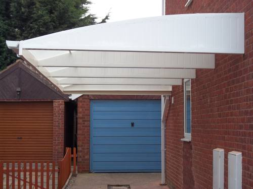 Cantilevered Carport