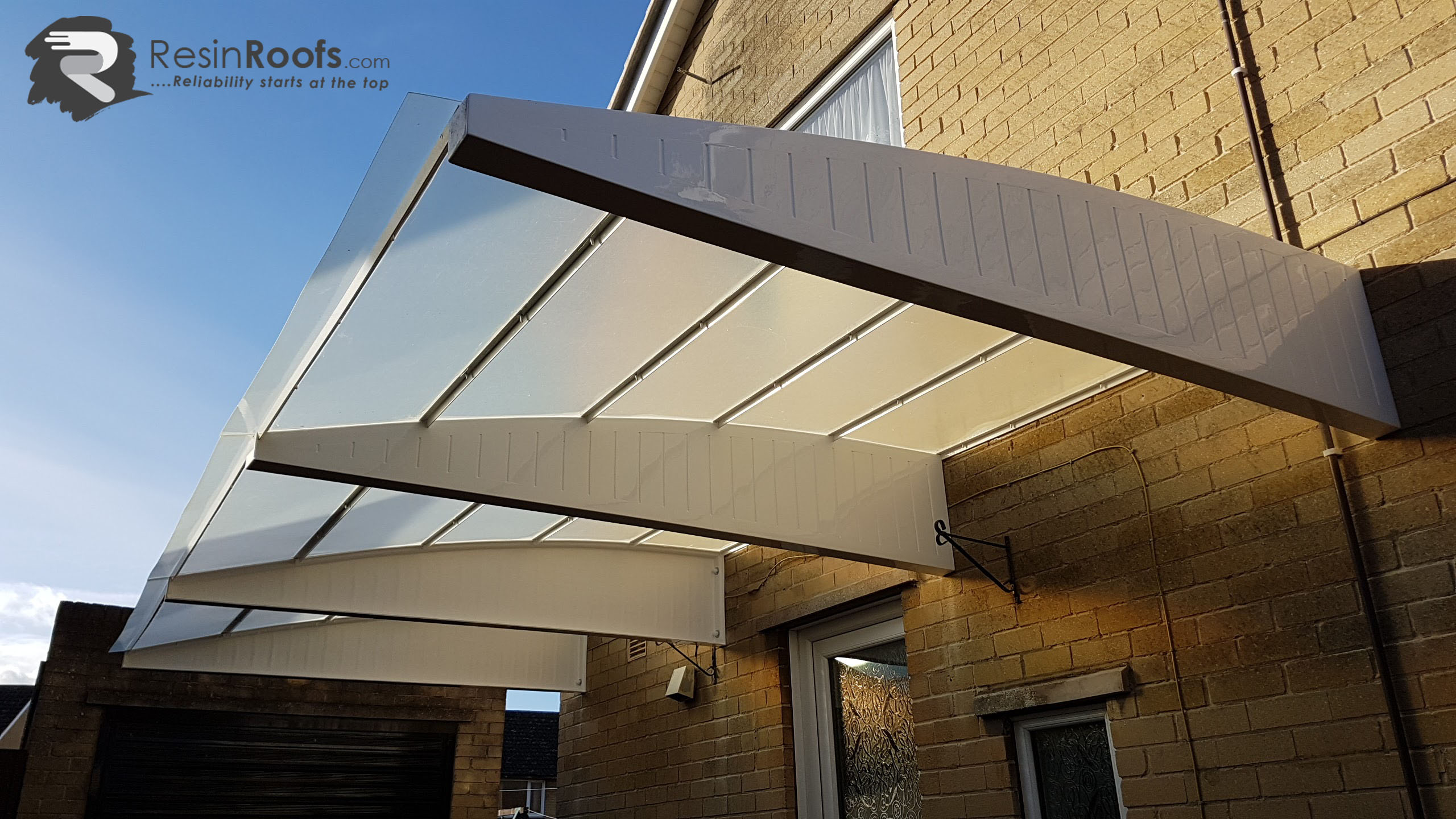 Carport Cantilever GRP up to 2440MM Projection Including Fixing Kit