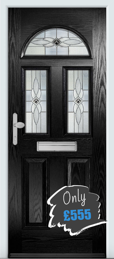 Composite door hull black