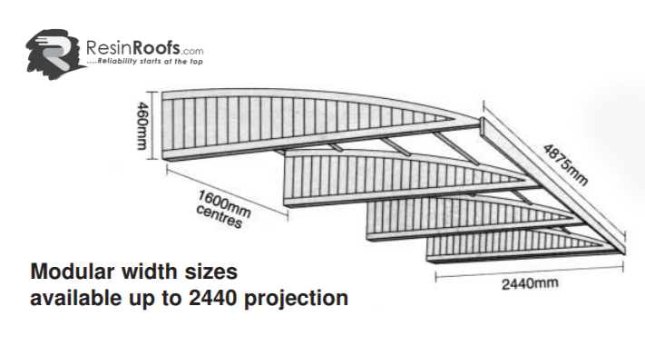 Cantilever carport hull 2440mm
